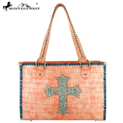 Spiritual Collection Croc Studded Handbag Coral