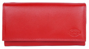Women's Red Nice Quality Soft Genuine Leather Wallet Gazello