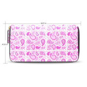 Womens Pink Paisley Pattern Long Wallet Case with Card Holder