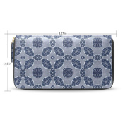Womens Fabric Pattern Long Wallet Case with Card Holder