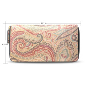 Womens Hera Paisley Pattern Long Wallet Case with Card Holder