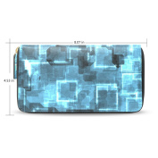 Womens Futuristic Abstract Pattern Long Wallet Case with Card Holder