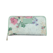 Women's Fashion Floral Clutch Zipper Around Wallet