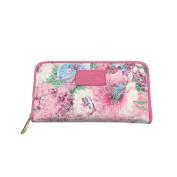 Women's Fashion Floral Clutch Zipper Around Wallet