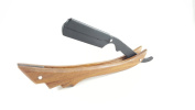 Wooden Straight Razor Natural Wood Colour Barbering Razor Cutthroat Razor Shaving Derby Dorco Feather Shaving