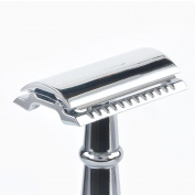 Chrome Straight Shaving Razor Handle by Boss Razors