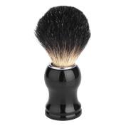 Shaving Brush, Oak Leaf 100% Pure Black Badger with Black Handle