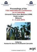 Icel 2016 - Proceedings of the 11th International Conference on E- Learning