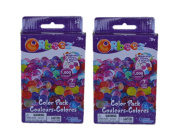 Orbeez Colour Multi-Pack -2 Pack Refill Kit - 7 Colours - Includes 1,000 Orbeez beads each / 2,000 beads Total -with Zipper Storage Bag.