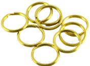 "Okones 20 Pcs 1-1/5""(30mm)Diameter,Leather handmade Factory Split Solid Brass Antique Key Ring"