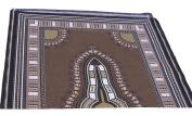 RaanPahMuang African Dashiki Colour Cotton Fabric Suitable for 1 Shirt Design, Cafe Noir Brown