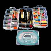 Bins & Things Storage Container with 30 Adjustable Compartments for Storing & Organising Sewing Embroidery Accessories Threads Bobbins Beads Beauty Supplies Nail Polish Jewellery Arts & Crafts - Large