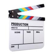 LEORX Director's Film Clapboard, Clapper Board Slate Clap-stick for TV / Film / Movie