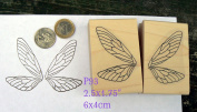 P93 Larger Fairy wings rubber stamps