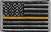 Thin Gold Line US Flag hook and loop Patch for Emergency Dispatchers