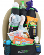 Universal Car Back Seat Organiser - GREEN | Storage Solution for Kids and Travellers | Satisfaction Guarantee