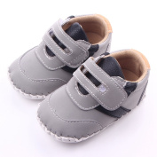 Lidiano Baby Boy Toddler Velcro Dull Polish Breathable Non Slip Rubber Sole Sneakers 0-18 Months