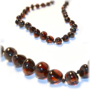 The Art of Cure CHERRY Amber Teething Necklace - FTIR Lab Tested Authentic Amber