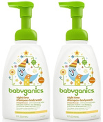 Babyganics Shampoo And Body Wash Night Time Orange Blossom, 470ml, 2 Pack