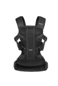 BABYBJORN Baby Carrier One Air Bundle Pack - Black, Mesh and Bib for Carrier One