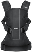 BABYBJORN Baby Carrier One Bundle Pack - Black, Cotton Mix and Bib for Carrier One