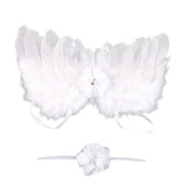 Binmer(TM)Baby Angel Feather Wings Feather Photo Prop Outfits Girls Hairband