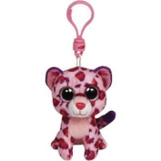 Ty Beanie Boos Glamour Pink Leopard Boo Key Clip by Ty
