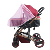 TININNA Universal Insect Net Mosquito Net for Pushchairs and Strollers Half Cover for Baby Car Seat Pink
