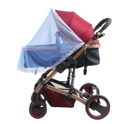 TININNA Universal Insect Net Mosquito Net for Pushchairs and Strollers Half Cover for Baby Car Seat Blue