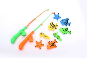 A-FOREST Bath Fishing Toy 8pcs 2 pole fishing toys with Enjoy Bathing Funtime Fishing Game Great Gift for Boys Girls for 3 Years Old Early Education
