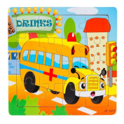 Kid's Toys, Xinantime 16pcs Wooden Jigsaw Education And Learning Puzzles Toys