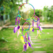 SkySea Colourful Dream Catcher Net With feathers Wall Hanging Decoration Decor Ornament