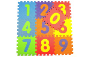 Soft Numbers Play Mats - Interlocking Foam Mat For Children - Activity Puzzle Playmats - Floor Protection - EVA Foam Rubber Numbers Mat - 0 - 9 = 10 Mats in total