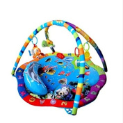Great Gift ! Baby Musical Ocean Adventure Gym Sealife Activity Playmat / Baby Toy Game Play Infant Toddler Kids Child Boys Girls Cool Unique Special Activity Educational Learning Smart Development Intelligence Motoric Friends Present Outdoor Indoor Roo ..
