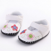 WAYLONGPLUS Newborn Baby Cute Flower Anti-skid Soft Toddler Shoes PU-Leather Prewalker Sneaker