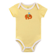 JIAJIA Unisex Baby Cute Yellow Short Sleeve Bodysuit Romper Onesies