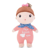 BELK Dollhouse Fancy Costume Baby's Tots Huggable Fabric Doll Soft Cotton Stuffed Toy 30cm Tall, Coffee Girl