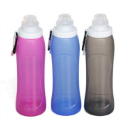 Tourism silicone folding cups Outdoor portable travel bottle