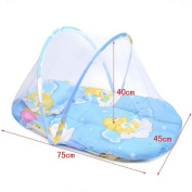 Bluestar Small Portable Folding Mosquito Net with Baby Pillow Baby Mosquito Net