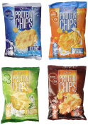 Quest Nutrition Protein Chips, Variety Pack Including Bbq, Sea Salt, Cheddar & Sour Cream, & Sour Cream & Onion, Pack Of 4, 1 Bag Of Each 4 Bags