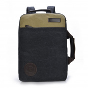 OOBest Canvas Laptop Briefcase Backpack Fits up to 40cm Laptop