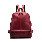 Summer New Wave of Korean ladies Backpack College Wind Contracted Embossed Leather Handbags Lichee Pattern Leather Bag
