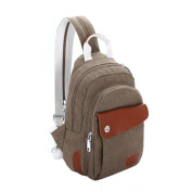 Ms. leisure backpack/Small shoulder bag/Canvas bag/Chest pack/Multifunctional package/Shoulder diagonal package-E