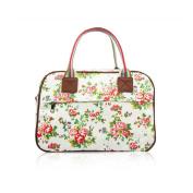 SALE Vintage Flowers 'Cath Kidston' Designer Style Matte Canvas Overnight Weekend Bag