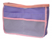 Small Multi-Pocket Bag Organiser for the Interior Storage Bag Cosmetic Bag Purple