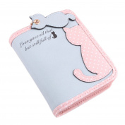 Girls Cute Lovely Carton Cat Pattern Short Long Purse Wallet Card Holder Zipper Coin Clutch Bag