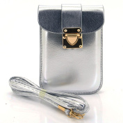 U-TIMES Women's Vintage PU Small Crossbody Cell Phone Pouch Mini Shoulder Bag Coin Purse