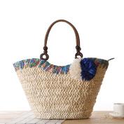 FAIRYSAN Women Straw Shoulder Bag Woven Tote Bag Wedding Basket Shopping Bag Beach Bag Extra Large