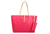 Drasawee Large Women Commuter Belt Buckle Shoulder Bag PU Leather Colourful Fashion Shopping Handbags Rosy Red