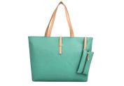 Drasawee Large Women Commuter Belt Buckle Shoulder Bag PU Leather Colourful Fashion Shopping Handbags Green
